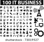 100 it   business icons  vector | Shutterstock .eps vector #73019527