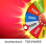 fortune wheel with sparks.... | Shutterstock .eps vector #730196005
