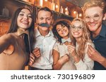 group of friends party together ... | Shutterstock . vector #730196809