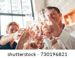 group of friends party together ... | Shutterstock . vector #730196821