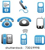 phone icons  vector | Shutterstock .eps vector #73019998