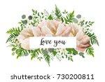 vector card floral flower... | Shutterstock .eps vector #730200811