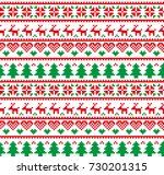 new year's christmas pattern... | Shutterstock .eps vector #730201315