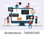 web design and app development...   Shutterstock .eps vector #730202185