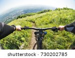 view from the first person of a ... | Shutterstock . vector #730202785