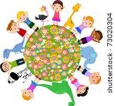 children | Shutterstock .eps vector #73020304