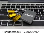 general data protection...   Shutterstock . vector #730203964