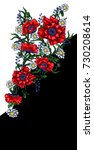design dress with red poppy and ... | Shutterstock .eps vector #730208614
