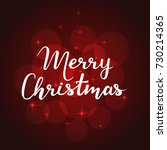 merry christmas card on red... | Shutterstock .eps vector #730214365
