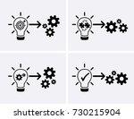 implementation icons. vector set | Shutterstock .eps vector #730215904