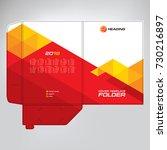 cover design for folder ... | Shutterstock .eps vector #730216897