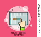 index finger and tablet pc.... | Shutterstock .eps vector #730217965
