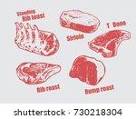 beef parts | Shutterstock .eps vector #730218304