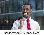 urban closeup of young african... | Shutterstock . vector #730221625