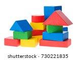 wooden building blocks for kids ... | Shutterstock . vector #730221835