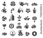 water icon set. vector | Shutterstock .eps vector #730232011