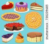 birthday celebration cream cake ...   Shutterstock .eps vector #730239685