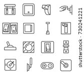switches icon set. switch thin... | Shutterstock .eps vector #730241221