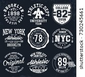 new york  brooklyn typography ... | Shutterstock .eps vector #730245661