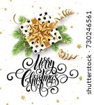 merry christmas handwriting... | Shutterstock .eps vector #730246561
