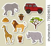 big set stickers with african... | Shutterstock .eps vector #730248151