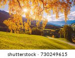 magic image of sunny hills in... | Shutterstock . vector #730249615