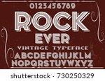 font handcrafted vector... | Shutterstock .eps vector #730250329