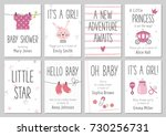 baby shower invitations. baby... | Shutterstock .eps vector #730256731