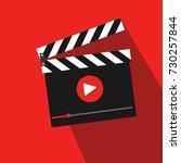 video action vector... | Shutterstock .eps vector #730257844