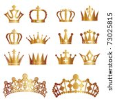 crown set | Shutterstock .eps vector #73025815