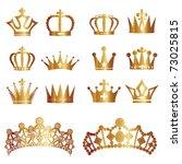 crown set | Shutterstock .eps vector #73025815