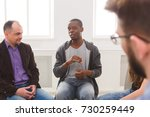 meeting of support group.... | Shutterstock . vector #730259449