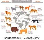 wild predators  their habitat ... | Shutterstock .eps vector #730262599