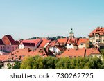 buildings and roofs in maribor...   Shutterstock . vector #730262725