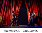 the actor opens a theater... | Shutterstock . vector #730263595
