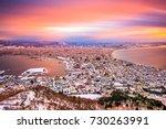 hakodate  hokkaido  japan dawn... | Shutterstock . vector #730263991