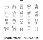 Drinks Food UI Pixel Perfect Well-crafted Vector Thin Line Icons 48x48 Ready for 24x24 Grid for Web Graphics and Apps with Editable Stroke. Simple Minimal Pictogram Part 1-2 | Shutterstock vector #730266745