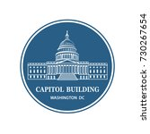united states capitol building... | Shutterstock .eps vector #730267654