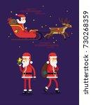 set of flat vector flat design... | Shutterstock .eps vector #730268359