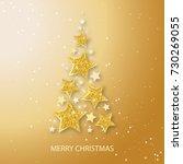 vector christmas abstract fir... | Shutterstock .eps vector #730269055