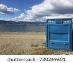 Blue Port A Potty Toilet On...