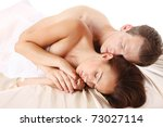 loving affectionate nude...   Shutterstock . vector #73027114