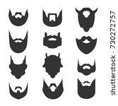 set of beards. silhouettes ... | Shutterstock .eps vector #730272757