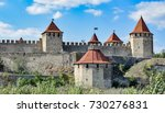 view to towers of bendery... | Shutterstock . vector #730276831