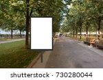 blank street billboard poster...   Shutterstock . vector #730280044