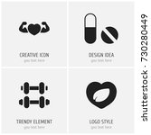 set of 4 editable sport icons....