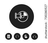 set of 5 editable audio icons....