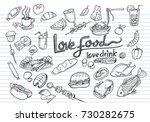 love food love drink concept... | Shutterstock .eps vector #730282675
