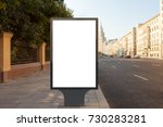 blank street billboard poster... | Shutterstock . vector #730283281