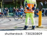 traffic control manager... | Shutterstock . vector #730283809